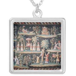 Tapestry in the Chinoiserie style of John van Custom Necklace