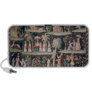 Tapestry in the Chinoiserie style of John van Laptop Speaker