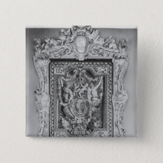 Tapestry of coat of arms of French Royal Family 15 Cm Square Badge
