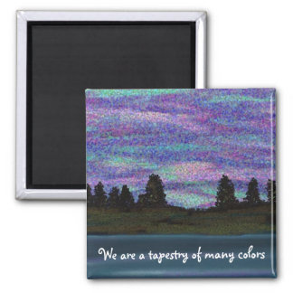 Tapestry of many colors square magnet