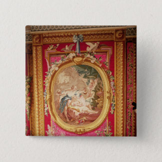 Tapestry panel depicting Cupid and Psyche 15 Cm Square Badge