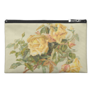 Tapestry Style Yellow Roses Travel Accessory Bags