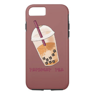 Tapiocat Tea Pun Illustration iPhone 8/7 Case