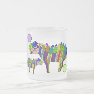 Tapir Frosted Glass Coffee Mug