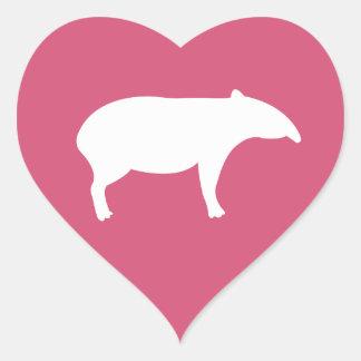 Tapir Heart Stickers