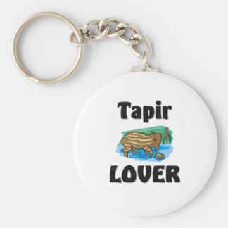 Tapir Lover Basic Round Button Key Ring
