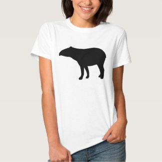 Tapir silhouette tshirts