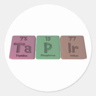 Tapir-Ta-P-Ir-Tantalum-Phosphorus-Iridium.png Round Sticker