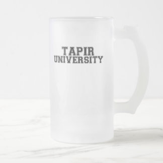 Tapir University Frosted Glass Beer Mug