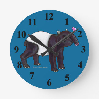 Tapir Wants Hugges Wall Clock