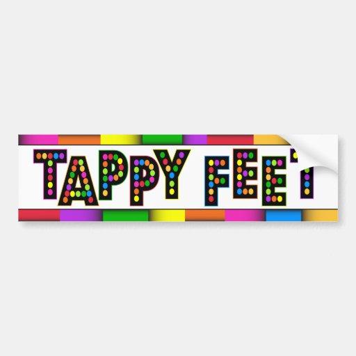 Tappy Feet - Bumper Sticker Bumper Sticker