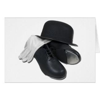TapShoesBowlerGloves012511 Greeting Card