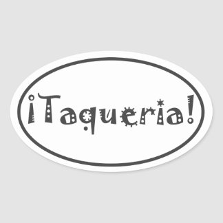 Taqueria Oval Sticker
