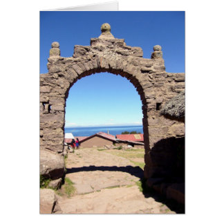 taquile arch greeting card