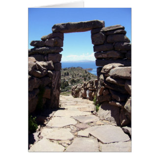taquile stone arch greeting card
