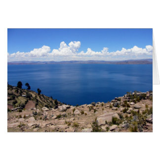 taquile titicaca greeting card