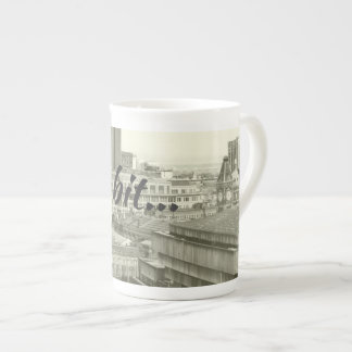 Tara a bit on Bone China mug, Birmingham skyline Tea Cup