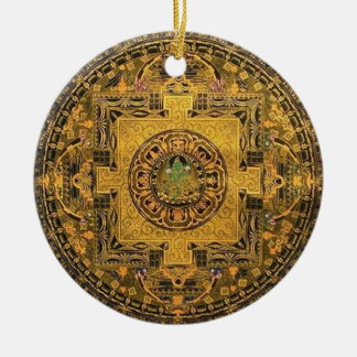 Tara Mandala Round Ceramic Decoration