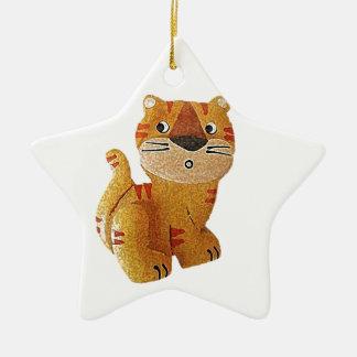 Tara Tiger Ceramic Star Decoration
