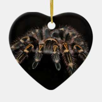 Tarantula Big Spider Hairy Arachnoid Ceramic Heart Decoration