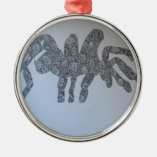 Tarantula drawing design christmas ornament