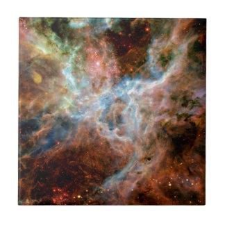 Tarantula Nebula R136 NASA Hubble Space Photo Small Square Tile
