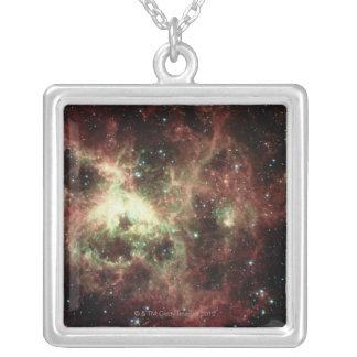 Tarantula Nebula Silver Plated Necklace