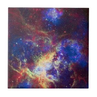 Tarantula Nebula Star Forming Gas Cloud Sculpture Tile