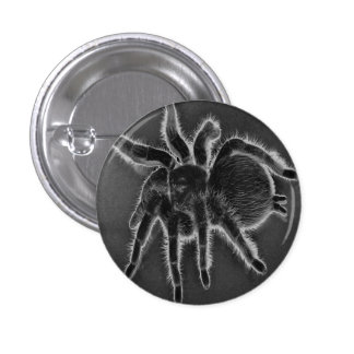 Tarantula Spider Goth button pin