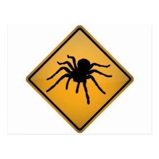 Tarantula Warning Sign Postcard