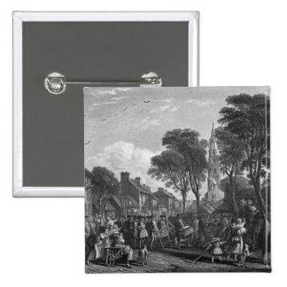 Tarbolton, Procession of St.James' Lodge, 1846 15 Cm Square Badge