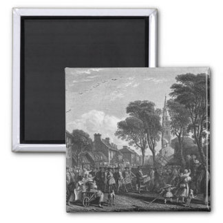 Tarbolton, Procession of St.James' Lodge, 1846 Square Magnet