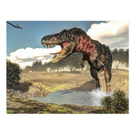 Tarbosaurus dinosaur - 3D render Postcard