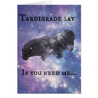 Tardigrade Say - Judging Greeting Card