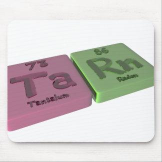 Tare as Ta Tantalum and Rn Radon Mouse Pad
