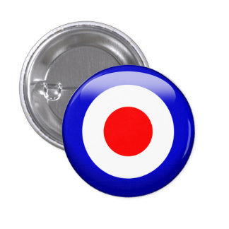 Target 3 Cm Round Badge