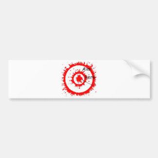 target aim car bumper sticker