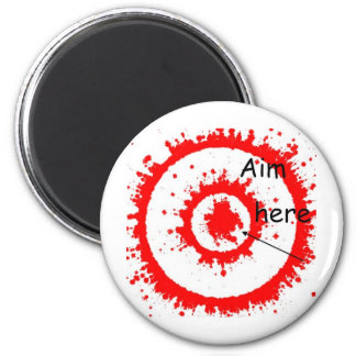 target aim refrigerator magnets