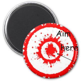target aim fridge magnet