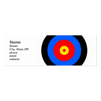 Target Double-Sided Mini Business Cards (Pack Of 20)