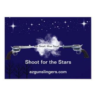 Target Designed for azgunslinger 6 inch target 13 Cm X 18 Cm Invitation Card