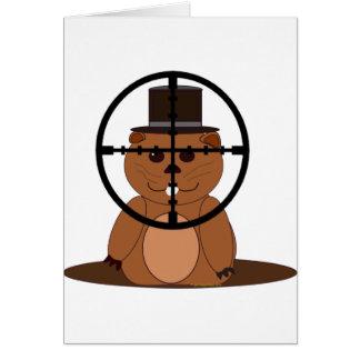 Target: groundhog card