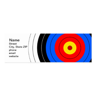 Target Lines Double-Sided Mini Business Cards (Pack Of 20)