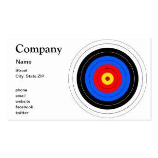 Target Lines Double-Sided Standard Business Cards (Pack Of 100)