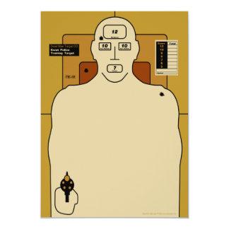 Target Paper, Gun Man Shooting Target Card