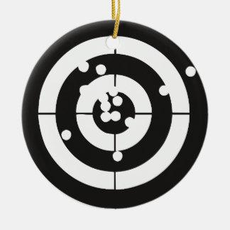 Target Practice Round Ceramic Decoration