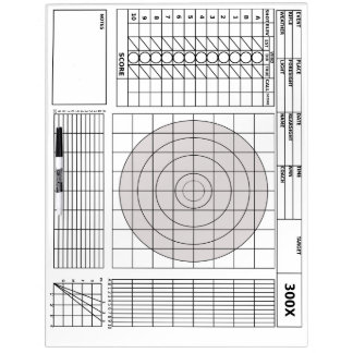 Target Rifle Scorecard Dry Erase Board