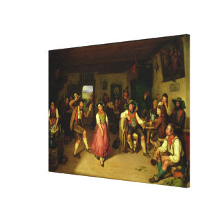 Target Shooting and Dancing in Oberbayern, 1841 Canvas Print
