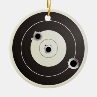 Target shooting christmas ornament