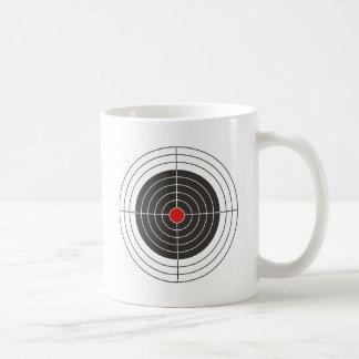 Target shooting for gun, rifle or firearm shooter basic white mug